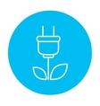 Eco green energy line icon vector image