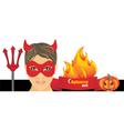 Halloween hot party vector image