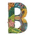 letter b zentangle decorative object vector image