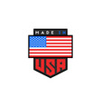 made in usa logo design american quality vector image
