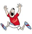 runner winner cartoon vector image