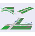 Set Runways vector image