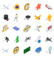 submission icons set isometric style vector image