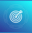 target with arrow icon in linear style vector image
