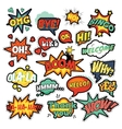 Pop Art Comic Speech Bubbles Set vector image