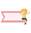 Banner template with happy boy vector image