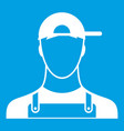 plumber icon white vector image