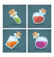 potion bottles vector image vector image