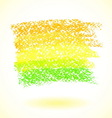 Yellow pastel crayon spot isolated on white vector image
