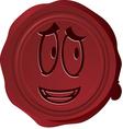 Wax seal Smiley 25 vector image