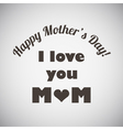 Mothers Day Emblem vector image vector image