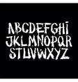 Hand drawn grunge font Detailed alphabet vector image