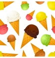 Bright colorful ice cream cones different tastes vector image