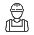 builder line icon build and repair construction vector image