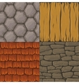 Collection of cartoon seamless textures vector image
