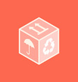 isometric box icon vector image