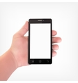 Man hand with smartphone vector image