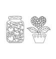 marson jar and love tree vector image