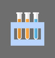 test tubes set icon medical glassware concept vector image