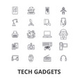 tech gadgets technology electronics laptop vector image