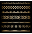 Gold borders set vector image vector image