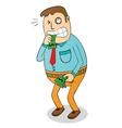 Man biting money vector image vector image