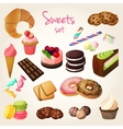 Sweets and pastry set vector image