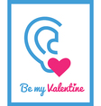 stValentine icons card 9 vector image