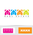 Real estate colors house logo vector image