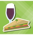 Sandwich design healthy food menu icon vector image