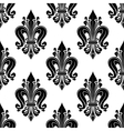 Floral seamless pattern with fleur-de-lis motif vector image