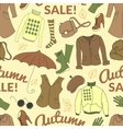 Autumn sale seamless pattern with season women vector image