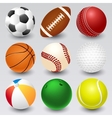 Ball icons vector image