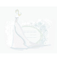 Beautiful bride card vector image