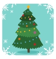 Christmas tree flat design vactor icon greeting vector image