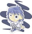 cute schoolgirl vector image
