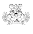 Hand drawn animal quokka doodle vector image