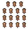 Monkey-businessman vector image
