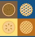 pie icon set vector image