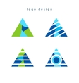 Triangle creative logo design vector image