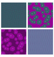 vector seamless backgrounds with flowers vector image