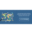 Social network banner vector image