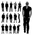 fashion man set vector image vector image