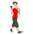 Teen And Gadget vector image