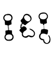 Handcuffs Silhouettes on White vector image