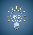 Icon bulb Ecological symbol vector image