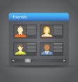 Friends board vector image