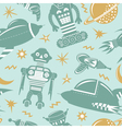 Space invaders background vector image vector image