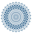 blue mandala from simple shapes isolated vector image