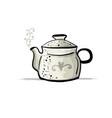 ceramic teapot sketch for your design vector image